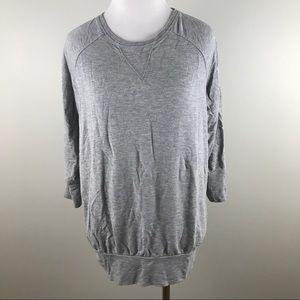 Athleta Gray Peaceful Pullover Top Size XXS